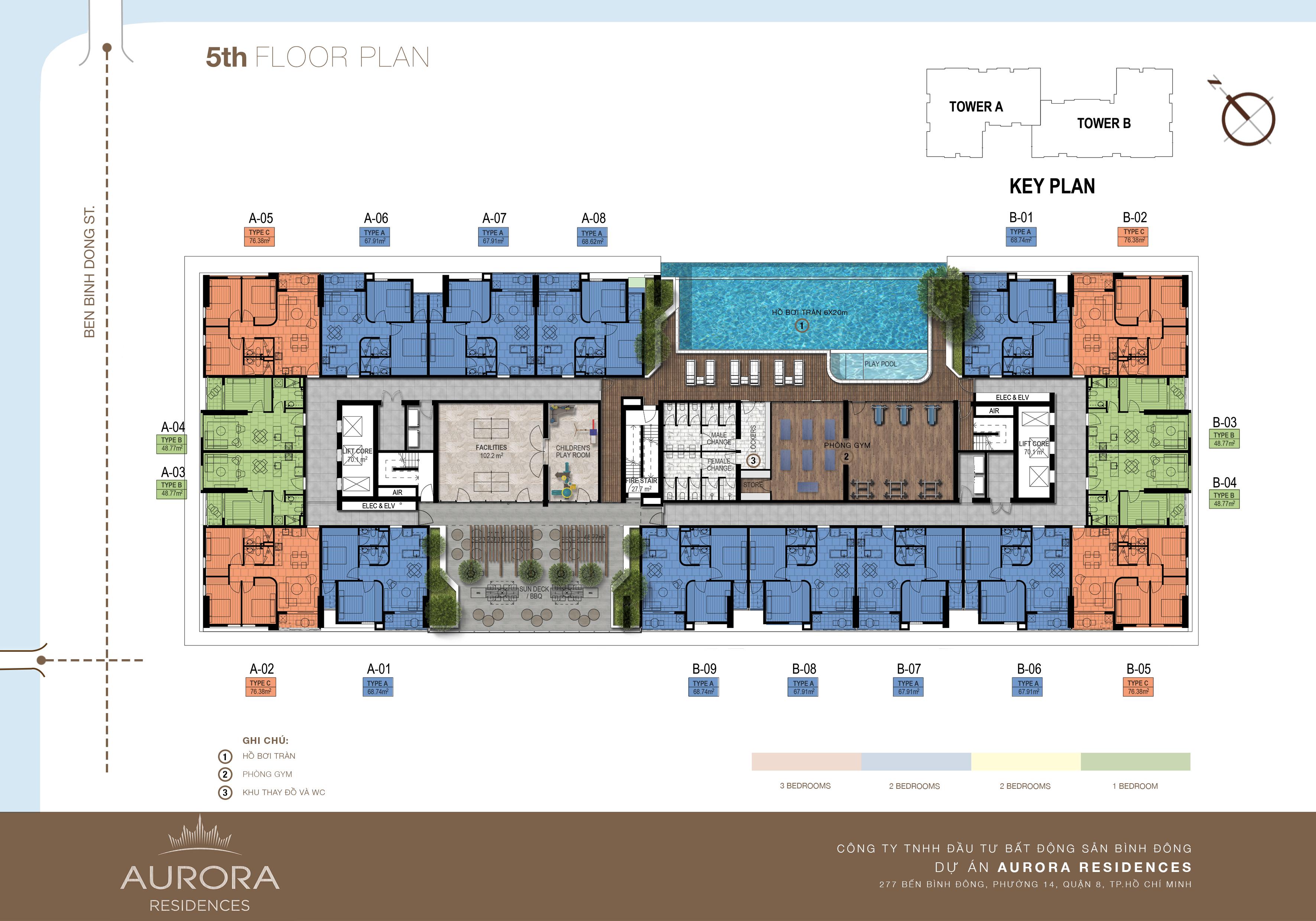 mặt bằng căn hộ  aurora quân 8tầng 6 đến tầng 25